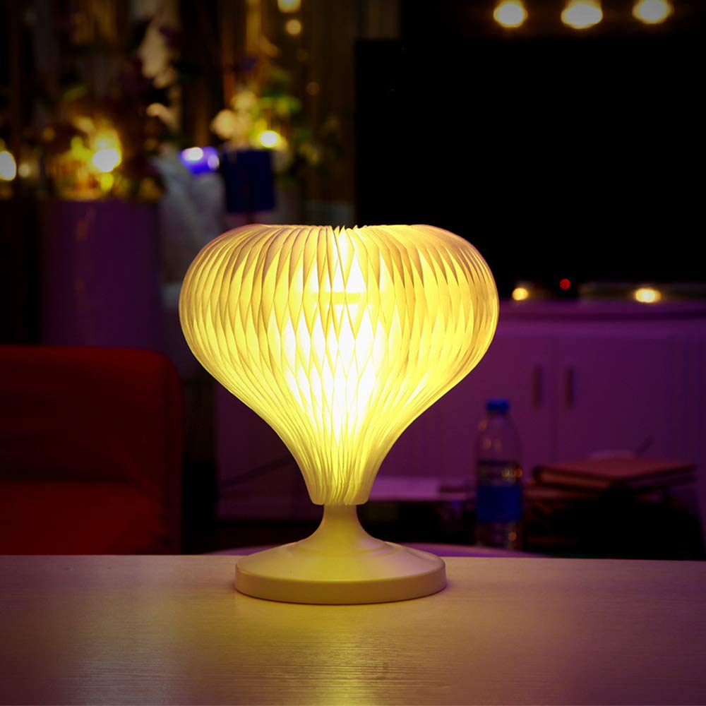 HWJF Lámpara de Mesa Creativa y Colorida Luz de Noche Junto ...