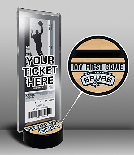 NBA San Antonio Spurs My First Game Ticket Display Stand, One Size, Multicolored by That's My Ticket