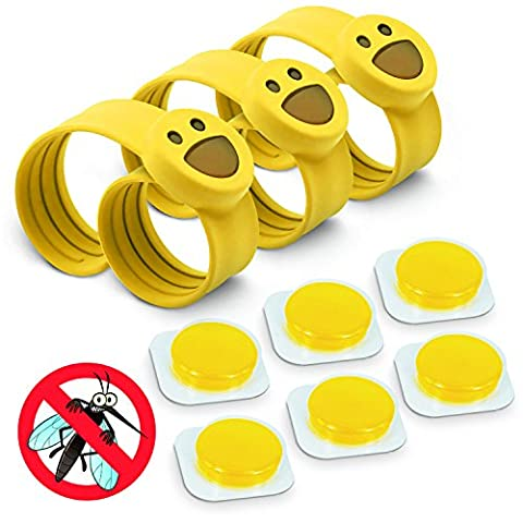 OUTXPRO 3 Bug Off Insect Repellent Slap Bracelets - DEET FREE - No Insecticide - Best Insect Repelling Product for Kids - Looks like Childrens Pretend Play Bracelet While Keeping Away Mosquitos, Black Flies, Sand Flies, Fleas,Ticks and Others (Color (First Up Screen Curtain)