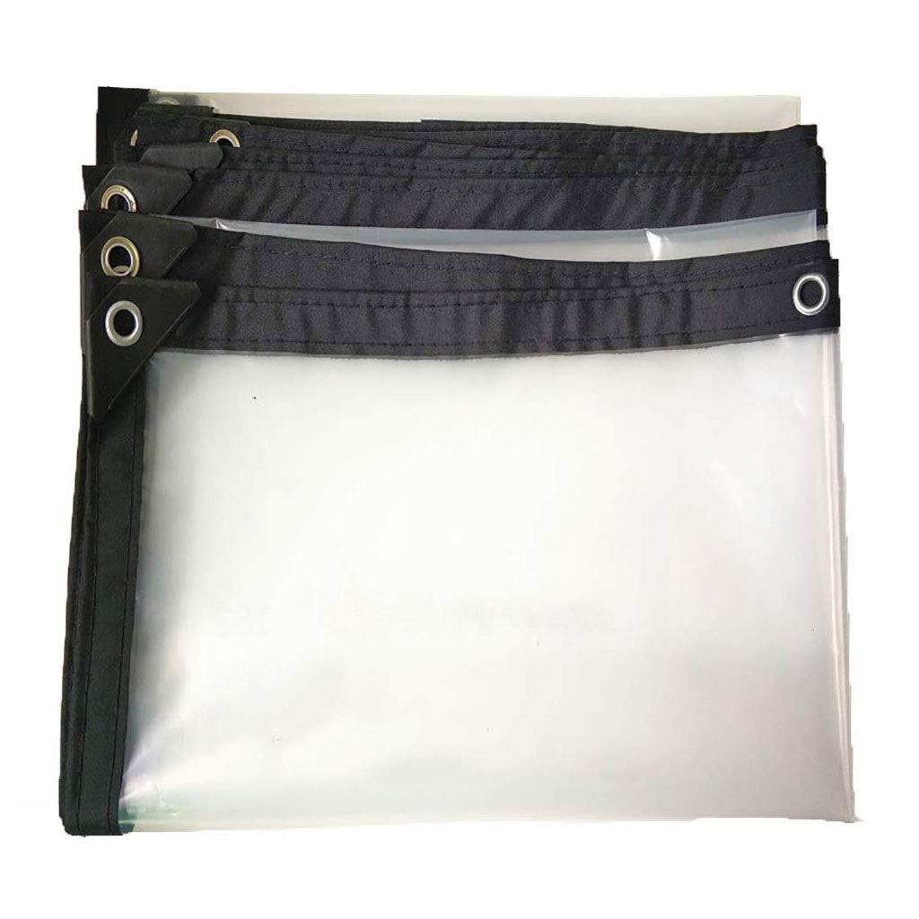 47m XZ15 Tissu imperméable au Rebord de la fenêtre en Tissu de Pluie Balcon Pare-Brise Film Transparent Tente extérieure auvent Transparent Tissu de Verre Doux (Taille   2  8m)