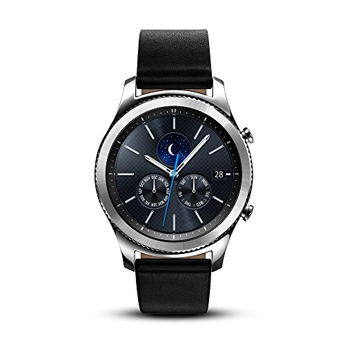 Samsung Gear S3 Classic Smartwatch (Bluetooth), SM-R770NZSAXAR US Version with Warranty (Renewed) (Samsung Watch)