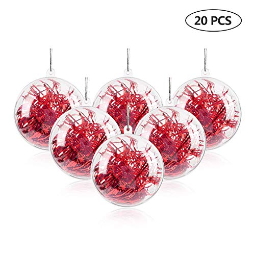 (Uten 20Pcs DIY Ornament Balls Christmas Decorations Tree Ball 3.94