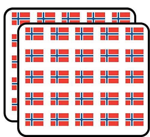 Norway Flag (Norwegian car) Sticker for Scrapbooking, Calendars, Arts, Kids DIY Crafts, Album, Bullet Journals