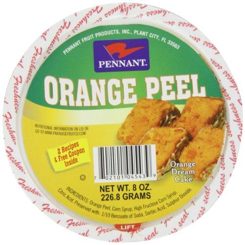 Pennant Diced Orange Peel, 8 Ounce Candied Orange Peel Chocolate