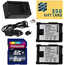 2 Canon BP-827 BP827 Lithium Ion Replacement Battery Packs 3000MAH Each 9000MAH in Total + Rapid AC/DC Battery Charger For The Canon HF S10 S11 S20 S21 S30 G10 G20 S100 M30 M31 M32 M40 M41 M300 M400 XA10, HF10, HF11, HF20, HF100, HF200, HG20, HG21, HG30, HFS10, HFS11, HFS20, HFS21, HFS30, HFG10, HFG20, HFS100, HFM30, HFM31, HFM32, HFM40, HFM41, HFM300 & HFM400 Video Camera Camcorders Includes Bonus 8GB High-Speed SDHC Memory Card + 47stphoto Microfiber Cleaning Cloth Photo Print