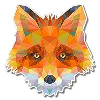 Fox Triangles Design Vinyl Sticker - SELECT SIZE