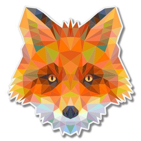 Fox Triangles Design Vinyl Sticker - Car Window Bumper Lapto