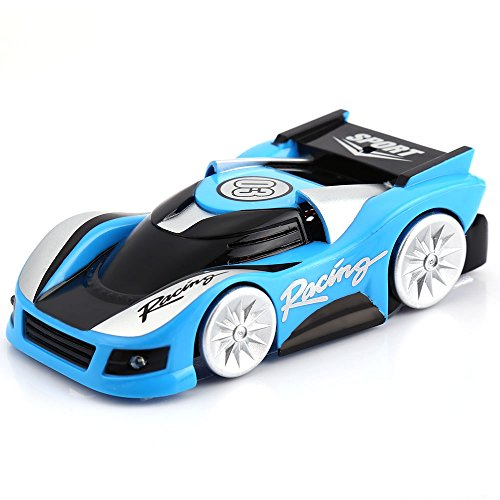 YOOYOO Infrared RC Wall Climbing Car Zero Gravity Micro Wall Racer (Blue)
