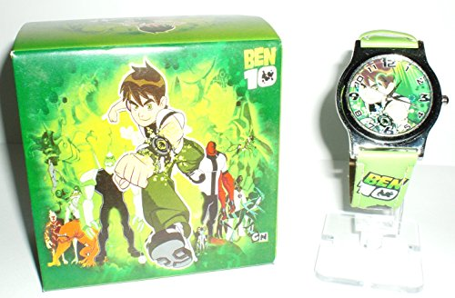 LIME GREEN BEN 10 Watch w/Gift Box & Stickers