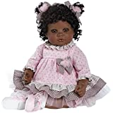 Adora Toddler African American AA Realistic Weighted Girl Doll Gift Set For Children 6+ Huggable Vinyl Cuddly Snuggle Soft Body Toy Curls of Love 20""