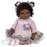 Adora Toddler African American AA Realistic Weighted Girl Doll Gift Set For Children 6+ Huggable Vinyl Cuddly Snuggle Soft Body Toy Curls of Love 20''