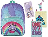 Style.Lab Magic Sequin Cupcake/Unicorn Backpack + Narwhal Sequin Reveal Journal + Pom Pom Pen + Bag Charm!