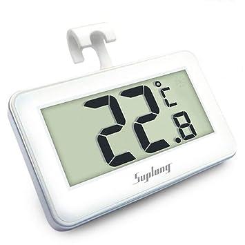 Termómetro del refrigerador, AIGUMI termómetro impermeable del congelador del refrigerador de Digitaces con la exhibición l ... (nevera-1): Amazon.es: Hogar