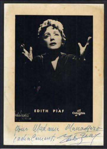environ 30,5/x 20,3/cm Edith Piaf sign/é autographe imprim/é Dimensions