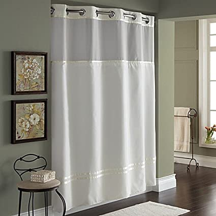 Amazon Hookless Escape 71 Inch X 74 Fabric Shower Curtain