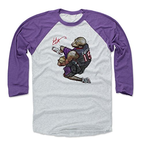 Basketball Carter Vince (500 LEVEL Vince Carter Baseball Tee Shirt Large Purple/Ash - Vintage Toronto Basketball Raglan Shirt - Vince Carter Between The Legs Dunk Toronto)