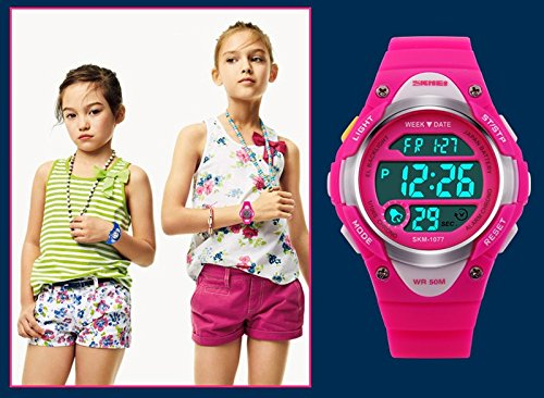 Boys Girls Multifunction Fashion Digital LED Sports Wrist Watch 50M Water Resistant Silicone Student Kids by OWIKAR (Image #5)