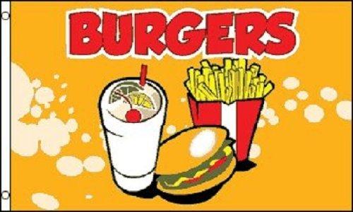 BURGERS Flag Fast Food Restaurant Sign Food Tent Banner Hamb