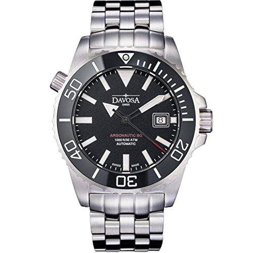 Davosa Automatic Swiss Made Men Watch - Professional Argonautic BG Analog Mechanical Movement Stainless Steel Band Menswatch (16152220)