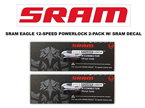 SRAM Eagle Rainbow PowerLock Chain Connector 12-speed Chain Link w/SRAM DECAL - Available in 2-PACK and 4-PACK (2) -