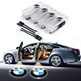 #9: BMW Car Door LED Lighting Logo 4 Pcs LED Entry Ghost Shadow Laser Projector Welcome Lights Easy Installation for BMW 3/5/6/7/Z/GT/X/Mini Series