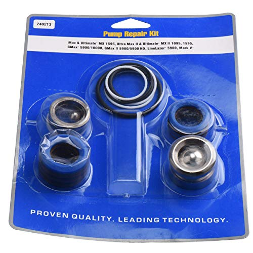 GDHXW 248213 Pump Repair Kit for MX II 1095,1595 GMax5900 Aftermarket Airless Paint Sprayer