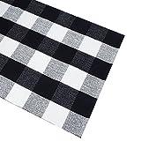 Black White Rug Plaid Cotton Area Rug Checkered Floor Carpet Entry Way Porch Mat Laundry Room Rug