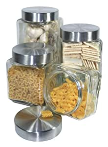 clear glass canisters for kitchen grant howard 50400 clear glass canisters with 23312