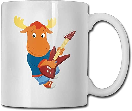 Tazas de café Becerro Tocando Guitarra Hombres Cumpleaños blanco ...