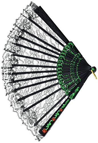 Fiesta Fan (black lace) Party Accessory  (1 count) (1/Pkg) - Fan Costumes