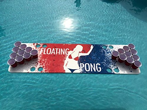 Splash Pong Foam Beer Pong Table - 6ft, Foam, All Weather, Portable - Floats Anywhere by Floating Pong