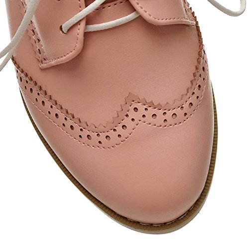 Casual Carol Lace Womens Shoes up Shoes Oxfords Pink 4p7qw