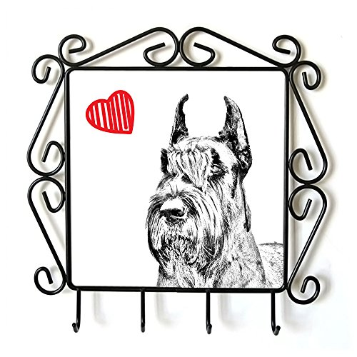 Schnauzer Cropped, clothes hanger with an image of a dog and heart (Schnauzer Cropped)