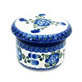 Polish Pottery Handmade 2 Piece Butter Bell Traditional Stoneware Pattern 270-163