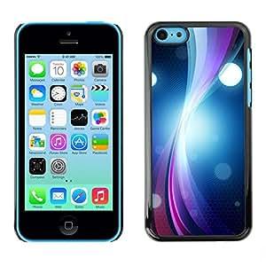 FECELL CITY // Duro Aluminio Pegatina PC Caso decorativo Funda Carcasa de Protección para Apple Iphone 5C // Ring Vibrant Circle Lines Bright Black Art