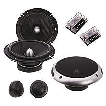 "Soundstream PF.6 Picasso Component 6.5"" 2-Way 350W Speaker Set, Black"
