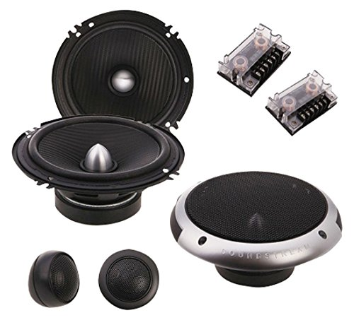 Soundstream PF.6 Picasso Component 6.5' 2-Way 350W Speaker Set, Black