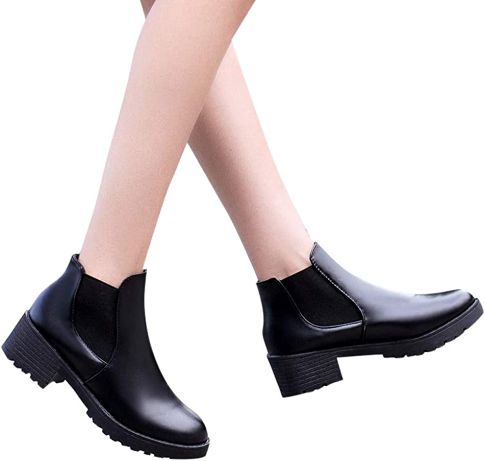 Casual Shoes Non-Slip Rubber Sole Waterproof Booties Memela Ankle Boots Motorcycle Boots Leather Shoes