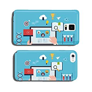 Flat design modern vector illustration icons set of online cell phone cover case iPhone6