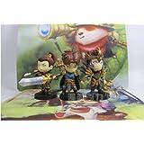 League of Legends Action Figures [Garen + Xin Zhao + Jarvan IV] three figures as one package.