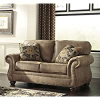 Larkinhurst Traditional Earth Color Faux Leather Loveseat