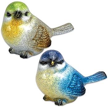 Bits And Pieces   Set Of Two (2) Mini Bird Figurines   Ceramic Bird