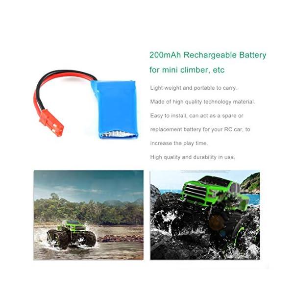 LouiseEvel215 Batteria al Litio RC Batteria Ricaricabile 3.7V 200mAh 20c Batteria al Litio RC per Mini Climber Mosquito… 4 spesavip
