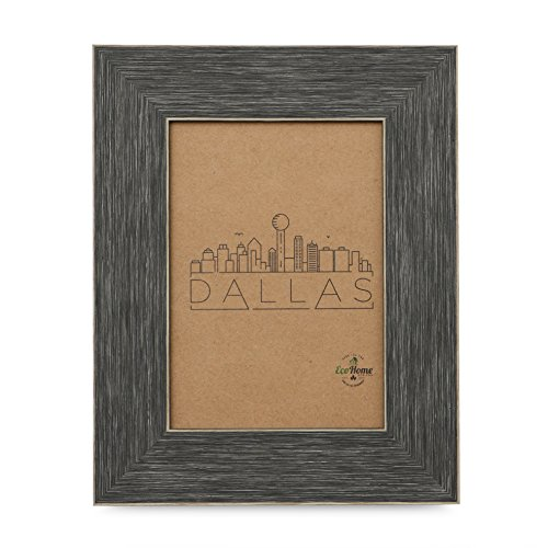 (4x6 Picture Frame Distressed Grey - Mount/Desktop Display, Frames by EcoHome)