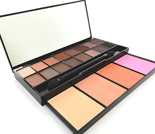 20 Color Eyeshadow Palette Makeup Cosmetic Contouring Kit Combination with Concealer and Blusher Mirror