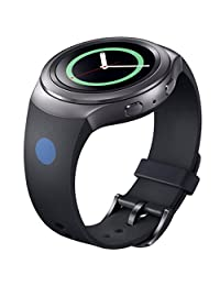 Watch Band, ABC Luxury Silicone Watch Band Strap for Samsung Galaxy Gear S2 SM-R720 (Black )