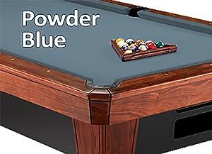 9u0027 Simonis 860 Powder Blue Pool Table Cloth Felt