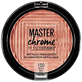 Maybelline Master Chrome Metallic Highlighter Makeup, Molten Peach, 0.19 Ounce