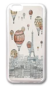 Apple Iphone 6 Case,WENJORS Adorable Voyages Over Paris Soft Case Protective Shell Cell Phone Cover For Apple Iphone 6 (4.7 Inch) - TPU Transparent