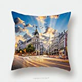Custom Satin Pillowcase Protector Madrid Spain On Gran Via_514769480 Pillow Case Covers Decorative
